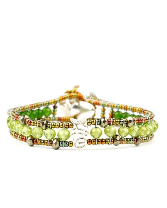 Handmade Bracelet GOUTTE Green