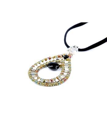 ziio-jewels-Pendant-GOUTTE-Black-Silver-1-c