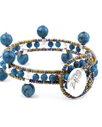 Handmade Bracelet CROWN Lapis