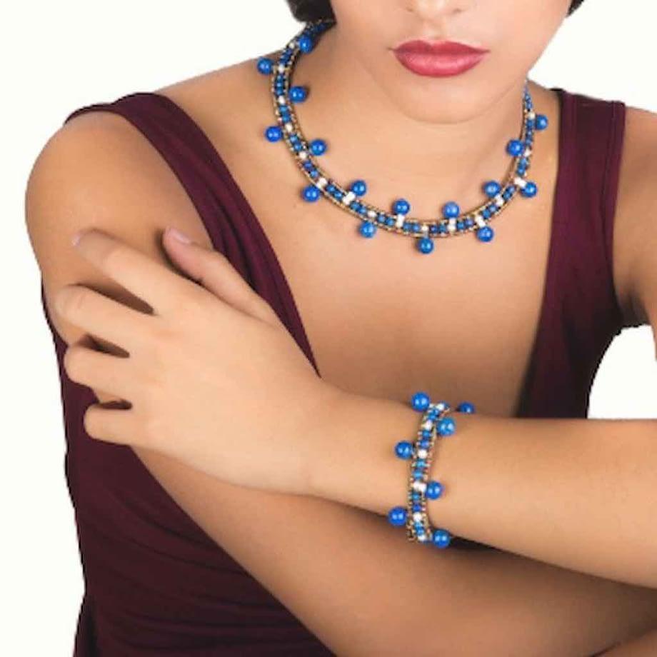 Necklace Crown LAPIS