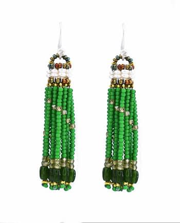 ziio jewels Earrings Chandelier Small Green SM