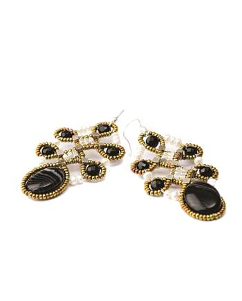 Handmade Earrings ARABESQUE Black