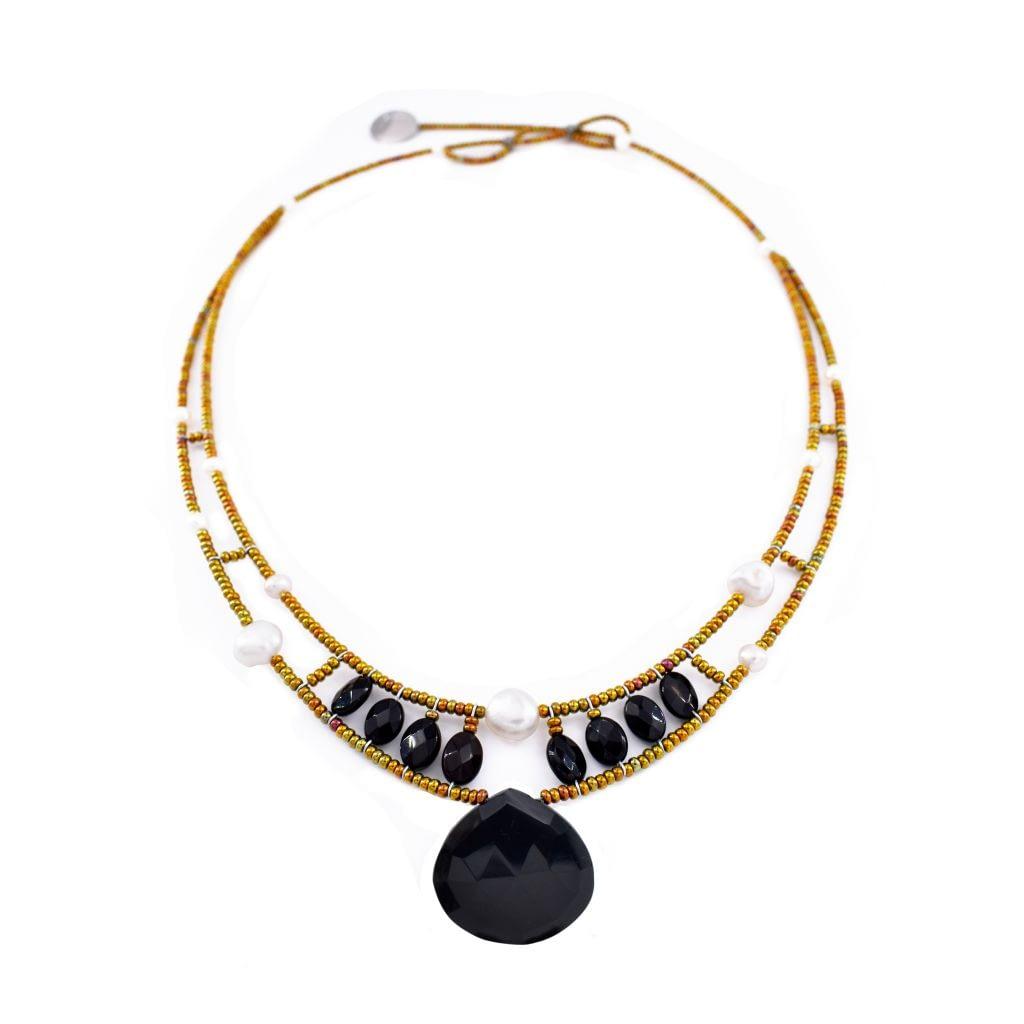 Ziio-jewels-Necklace HEART Black