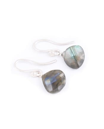 Earrings HEART Small Labradorite