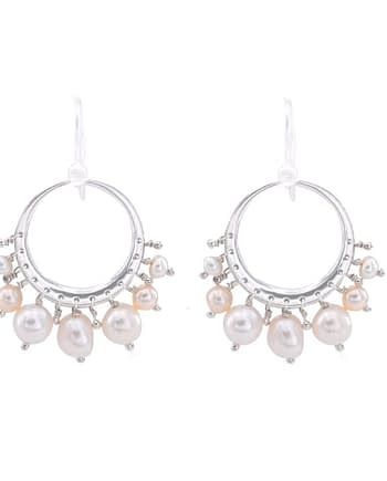 Earrings TRESOR Creole Pearl