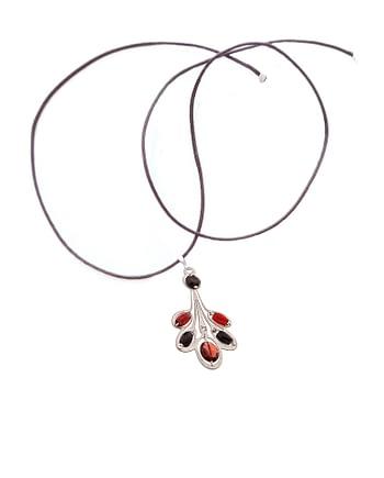 Handmade Pendant LYS Small Garnet ziio jewels