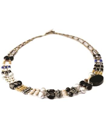 Handmade Necklace THIN Black Onyx