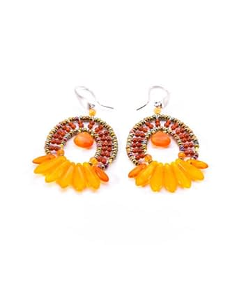 Earrings Mistinguett Orange