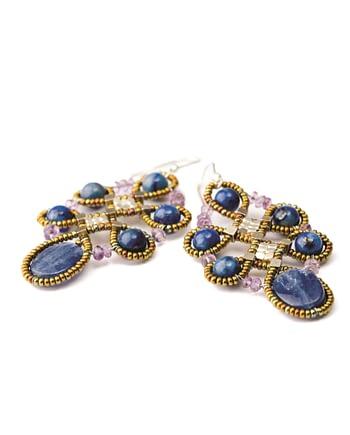 Handmade Earrings ARABESQUE Blu