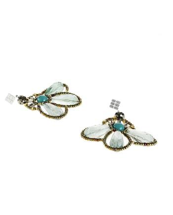 Handmade Earrings BEE Fluorite