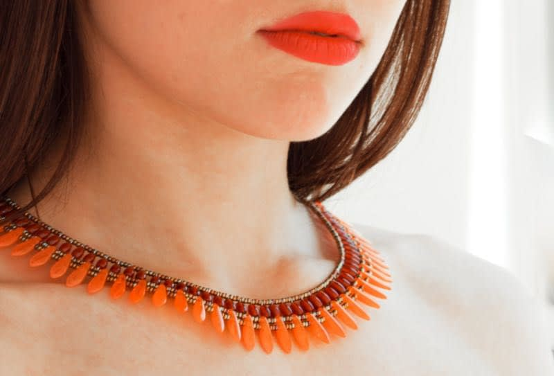 Necklace Mistinguett Orange