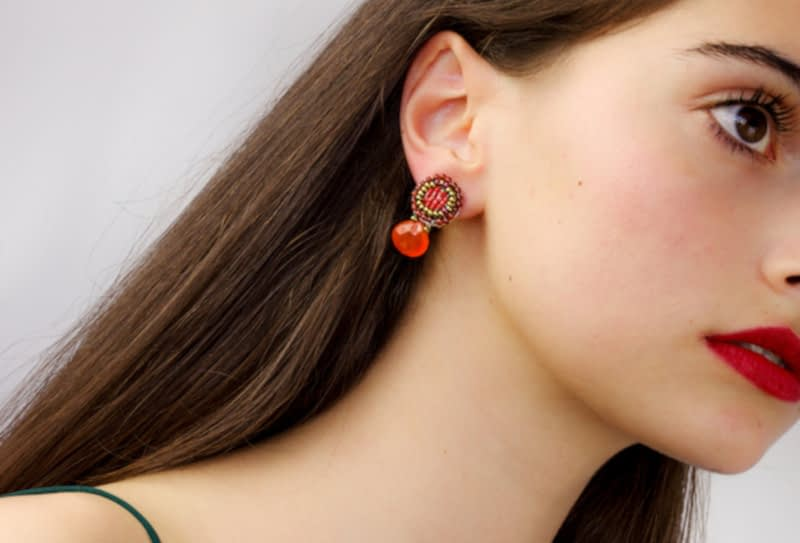 Earring-Goiaba-small orange