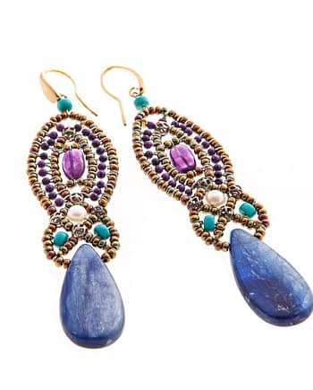Earrings rha blue
