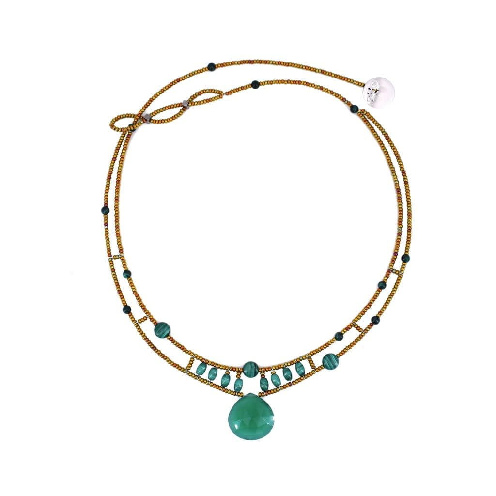 Ziio-gioielli-Collana HEART Green