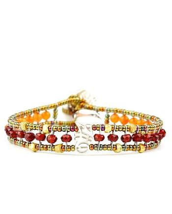 Handmade Bracelet GOUTTE Orange