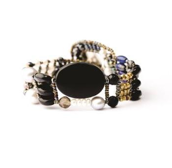 Handmade Bracelet THIN Black Onyx
