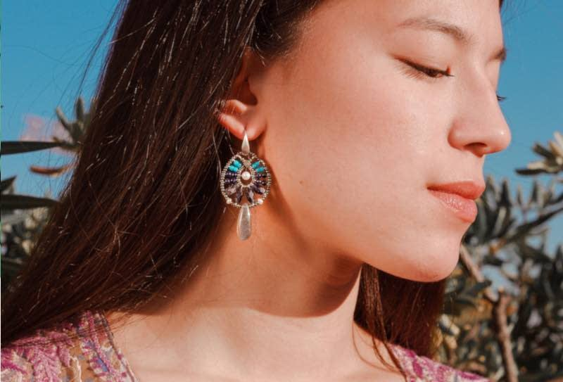 Ziio-Jewels-earrings Fenice Small Blu