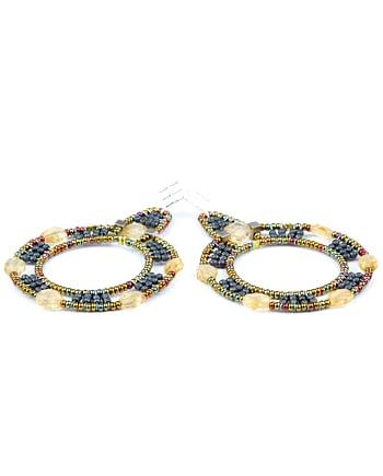 Handmade Earrings Roue Citrine