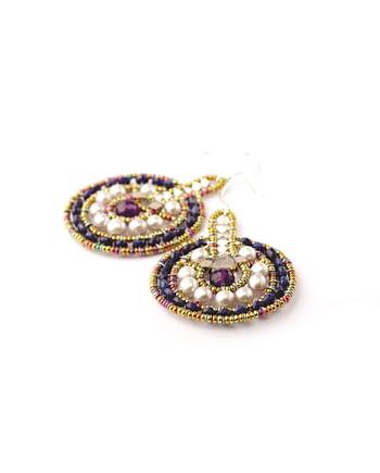 Handmade Earrings VENUS Amethyst