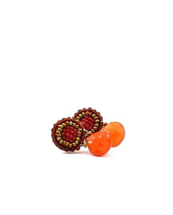 Earrings GOIABA BOTTONE SMALL ORANGE