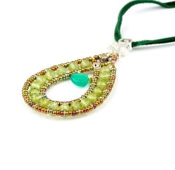 Handmade Pendant GOUTTE Green