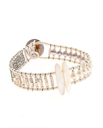 Bracelet Sil Tethis Pearl