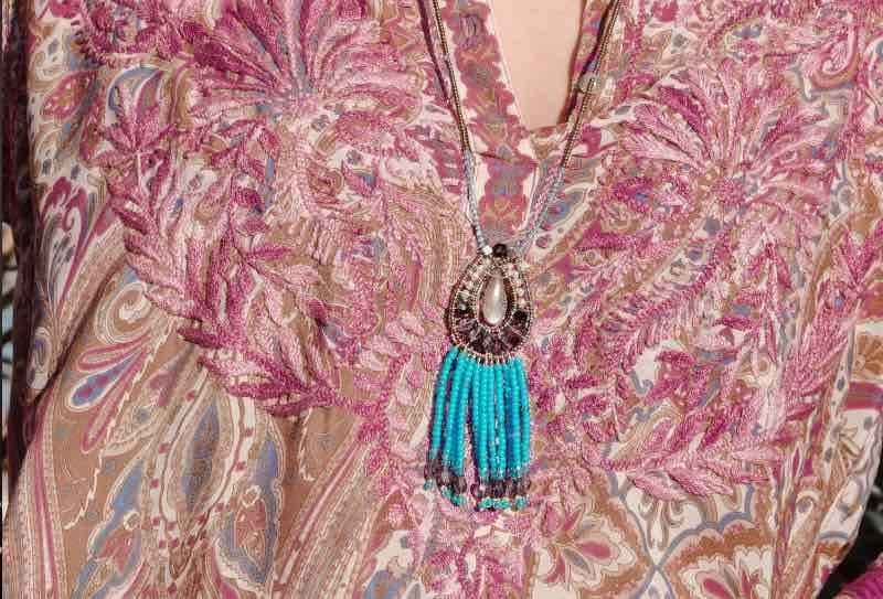 Ziio Jewels pendant fenice blu