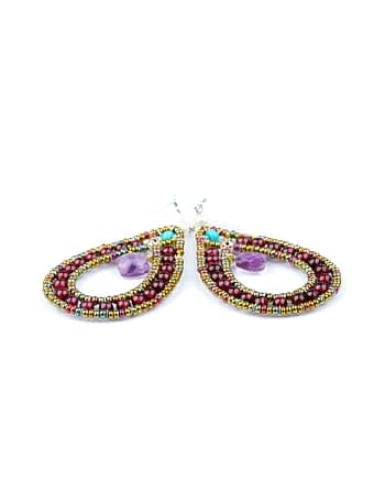 Handmade Earrings GOUTTE Violet