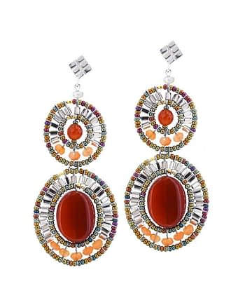 Earrings BUBBLE Red