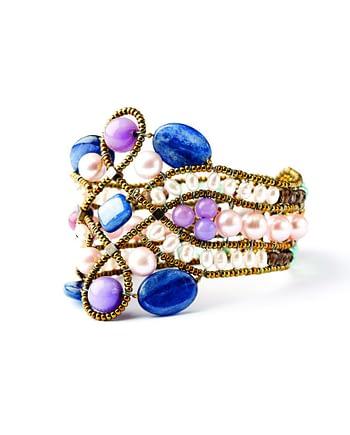 Handmade Bracelet Knot lilla 3
