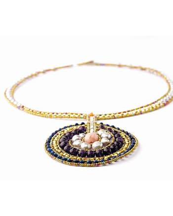Handmade necklace VENUS Amethyst