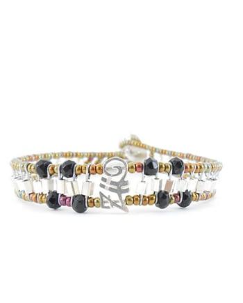 Handmade Bracelet GOUTTE Black