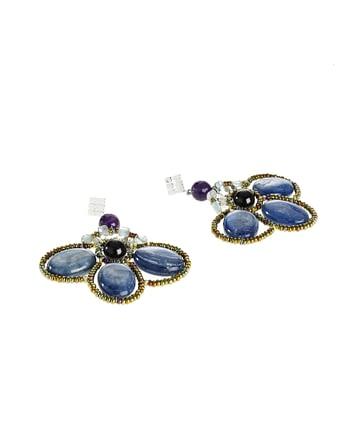 Handmade Earrings BEE Kyanite Blue