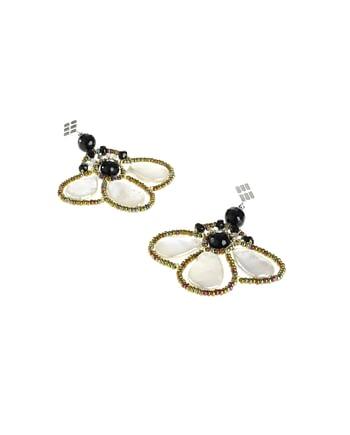 Handmade Earrings BEE Pearl