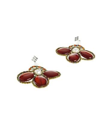 Handmade Earrings BEE Red