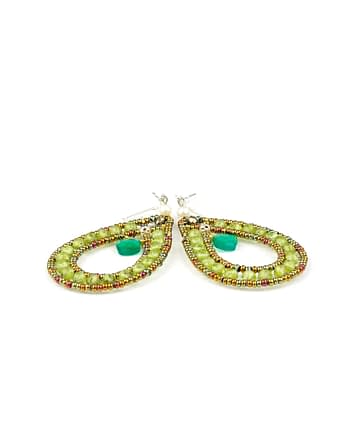 Handmade Earrings GOUTTE Green
