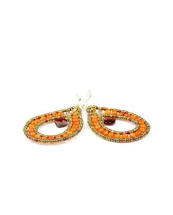 Handmade Earrings GOUTTE Orange