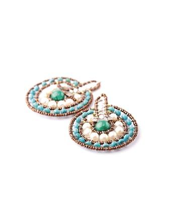 Handmade Earrings VENUS Blue