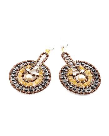 Handmade Earrings VENUS Citrine