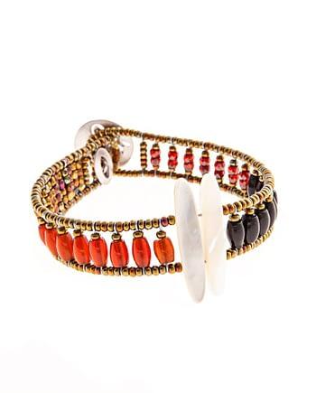 Bracelet Sil Tethis red