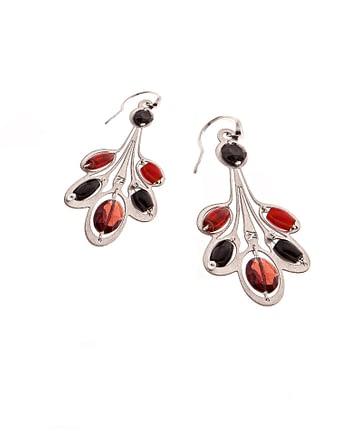 Handmade Earrings LYS Small Garnet ziio jewels