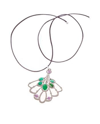 Handmade Pendant LYS Long Green ziio jewels