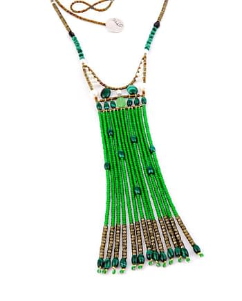 Necklace FENICE Long Green