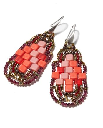 Handmade Earrings PIXEL Grenade