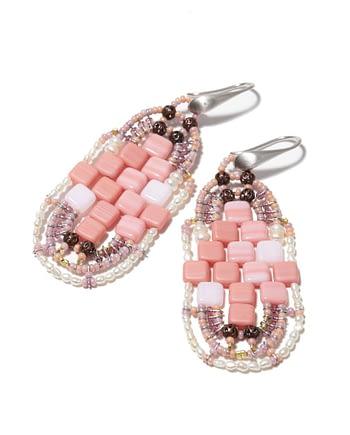 Handmade Earrings PIXEL Pink