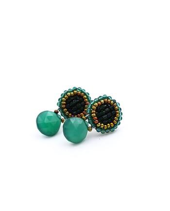 Earrings GOIABA BOTTONE SMALL GREEN