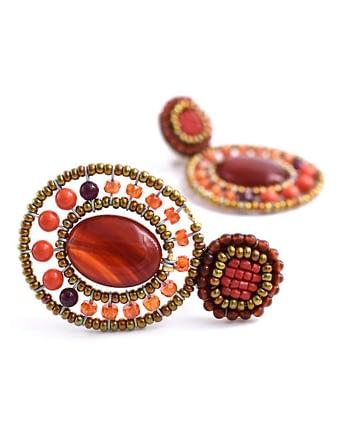 Earrings GOIABA BOTTONE Long ORANGE