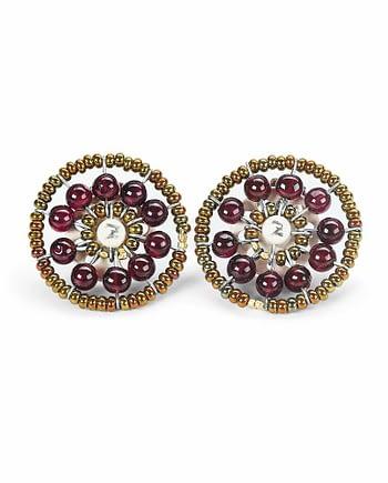 Earrings Sol Garnet