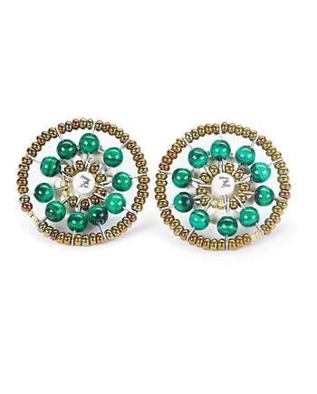 Earrings Sol Malachite
