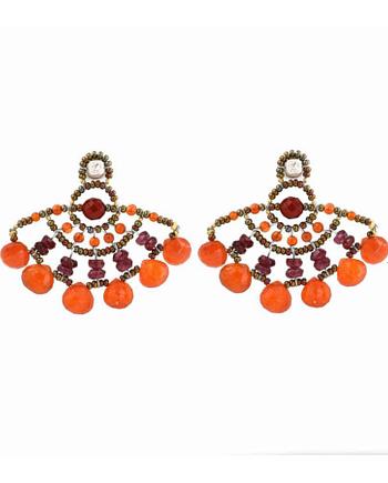 Earrings Abanico Orange